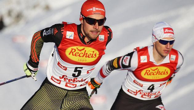 Johannes Rydzek (vorne), David Pommer (hinten) (Bild: GEPA pictures)