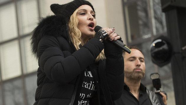 """Madonna beim """"Marsch der Frauen"""" (Bild: Viennareport)"""