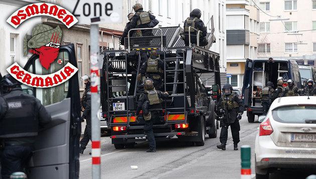 "Polizei schlug bei den ""Rocker-Osmanen"" zu (Bild: Martin A Jöchl)"