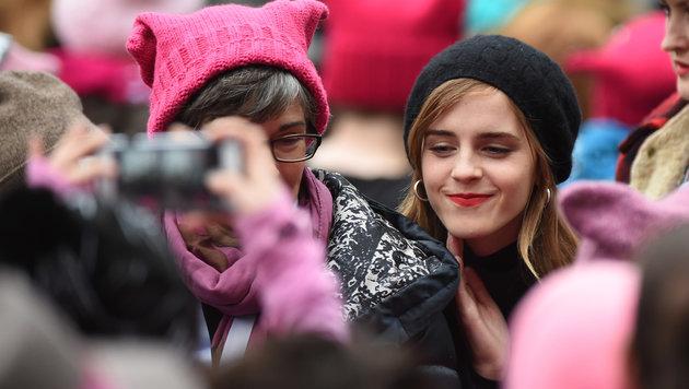 Emma Watson beim Frauenmarsch in  Washington D.C (Bild: Viennareport)