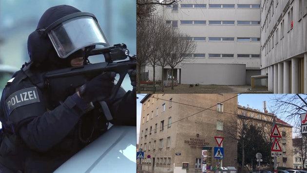 In Wien fanden mehrere Razzien statt. (Bild: krone.at)