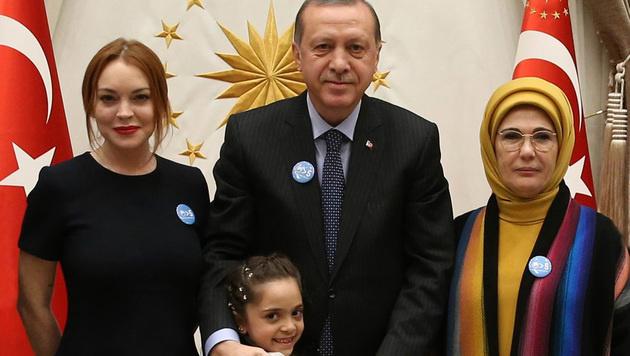 Lindsay Lohan als PR-Gesicht für Erdogan (Bild: AFP)