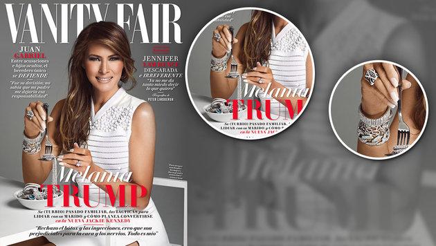Empörung über Juwelen essende Melania Trump (Bild: Vanity Fair)