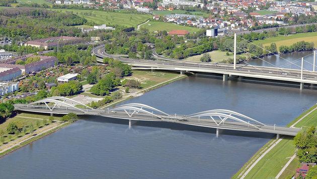 Im Jahr 2020 soll der Ersatz für die Eisenbahnbrücke fertig sein. Derzeit gibt´s nur Animationen. (Bild: Marc Mimram Architecte)