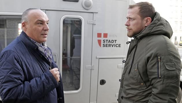 """Walter Hillerer mit """"Krone""""-Reporter Klaus Loibnegger (Bild: Klemens Groh)"""