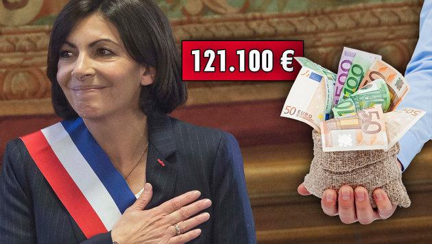 Paris: Anne Hidalgo erhält 121.100 Euro im Jahr. (Bild: AP, thinkstockphotos.de)