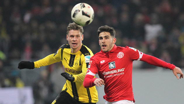 Dortmund schwächelt! Nur 1:1 in Mainz (Bild: AFP)