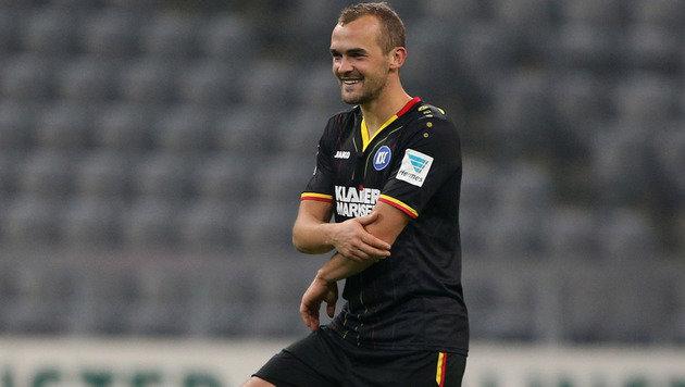 Hoffer beschert Neo-KSC-Trainer Slomka Debüt-Sieg (Bild: GEPA)