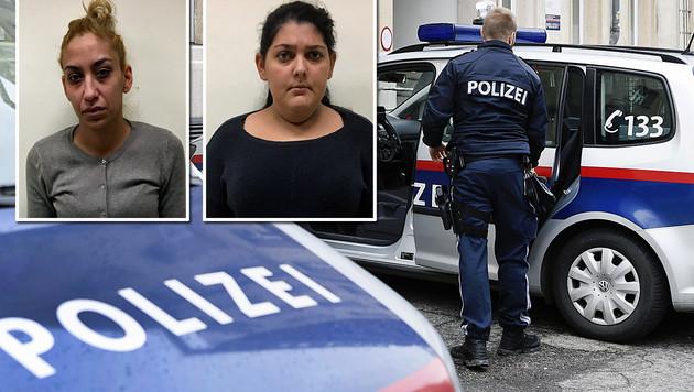 Diese beiden Frauen sollen etliche Beutezüge in Wien unternommen haben. (Bild: BPD Wien, APA/ROBERT JAEGER)