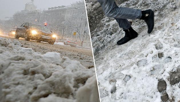 Wetteraussichten: Auf Schneefall folgt Tauwetter (Bild: APA/Roland Schlager, dpa)