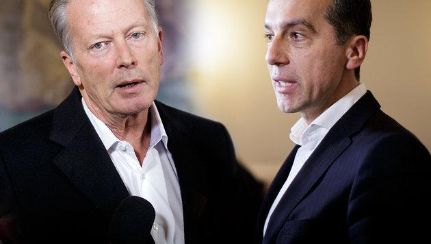 Vizekanzler und ÖVP-Chef Reinhold Mitterlehner, Bundeskanzler und SPÖ-Chef Christian Kern (Bild: APA/Georg Hochmuth)