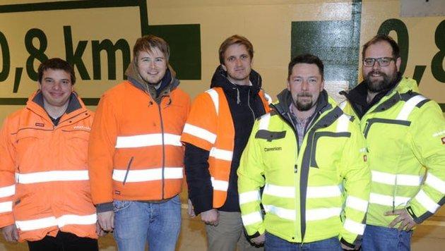 Projektleiter J. Heiß mit Andreas Schaidreiter, Markus Müller-Koren, Bernhard Kurz, Martin Maurer. (Bild: Roland Holitzky)