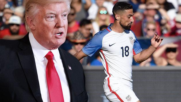 Trumps Einreiseverbot: US-Sport reagiert entsetzt! (Bild: AP/Evan Vucci, AP/Denis Poroy)