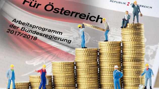 Was das Arbeitsprogramm kostet und was es bringt (Bild: APA/ROLAND SCHLAGER, thinkstockphotos.de)