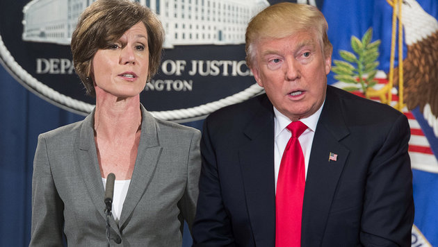 """Nach """"Verrat"""": Trump feuert Justizministerin (Bild: APA/AFP/Saul Loeb, APA/AFP/Nicholas Kamm)"""