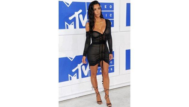 Und das ist das Kleid, das Kim Kardashian unten rum geschminkt getragen hat. (Bild: MediaPunch/face to face)