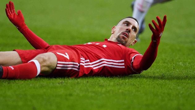 Bayern im Pech: Ribery verletzt out (Bild: AFP)