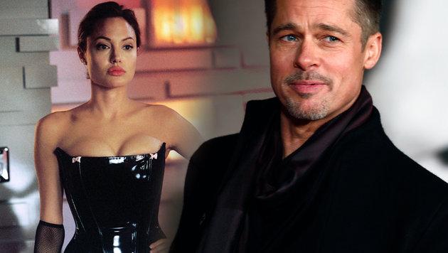 Angelina Jolie und Brad Pitt: Am Ende blieb nur Hass von der Glamourbeziehung. (Bild: face to face, AFP/Adrian DENNIS)
