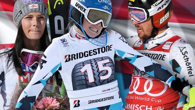 Diese Ski-Asse gehen für Österreich an den Start! (Bild: GEPA, thinkstockphotos.de)