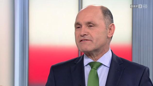 """Innenminister Wolfgang Sobotka im """"Report"""" (Bild: ORF)"""