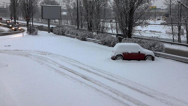 Osten Österreichs versinkt erneut im Schnee (Bild: Gabor Agardi)