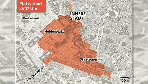 Akademikerball: City wird zur Hochsicherheitszone (Bild: Krone-Grafik)