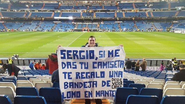 Sergio Ramos gibt letztes Hemd für Schweinsrücken! (Bild: Twitter.com)