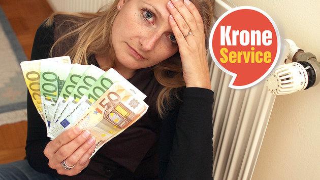 """117.000 Haushalte können sich Heizen kaum leisten (Bild: Jürgen Radspieler, """"Krone""""-Grafik)"""