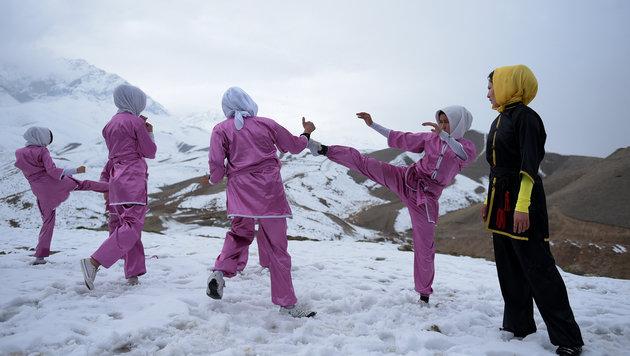 """Kabul: """"Wushu-Frauen"""" kämpfen gegen Unterdrückung (Bild: AFP)"""