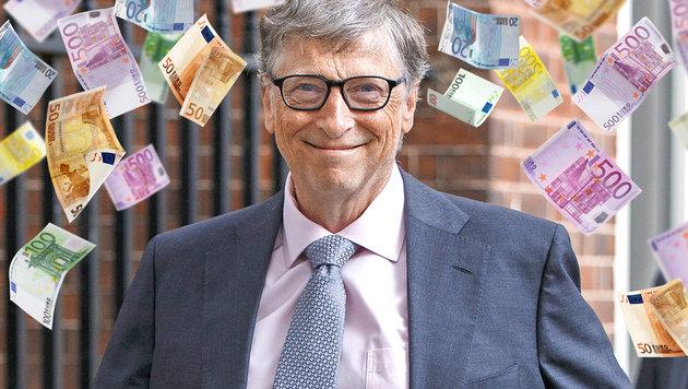 Bill Gates am Weg, erster Billionär zu werden (Bild: Walker/face to face, thinkstockphotos.de)
