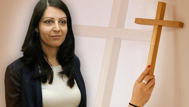 SPÖ-Staatssekretärin Duzdar löste eine neue Debatte um religiöse Symbole aus. (Bild: APA/Herbert Pfarrhofer, dpa)