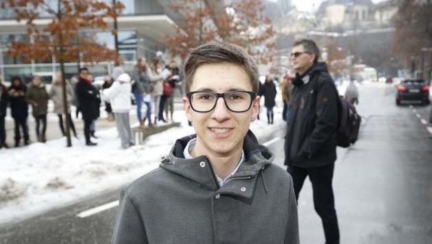 """Schülersprecher Mario Steinwender (16): """"Kämpfen für Vielfalt!"""" (Bild: Markus Tschepp)"""