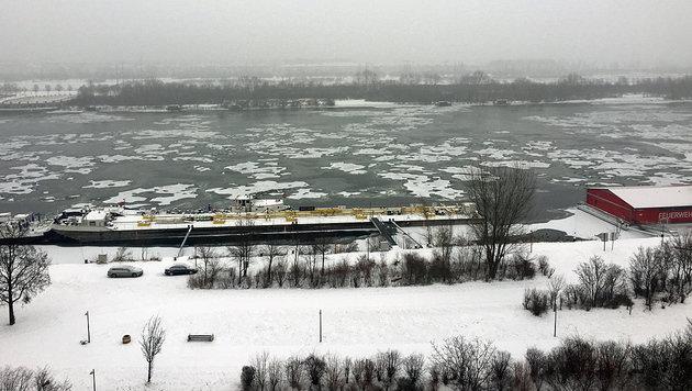 Die Eiseskälte ließ die Donau teils gefrieren, am Wochenende wird es nun deutlich wärmer. (Bild: Charlotte Sequard-Base)