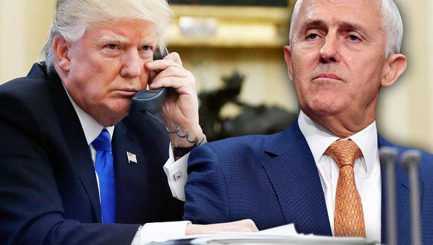Trump rüpelt gegen australischen Premierminister (Bild: AP/Mick Tsikas, AP/Alex Brandon)