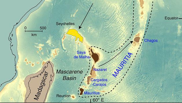 """Verlorener Kontinent"" unter Mauritius entdeckt (Bild: Nature)"