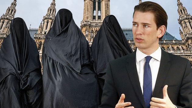 Auch aus Wiener SPÖ klares Ja zu Burkaverbot (Bild: APA/Außenministerium/Dragan Tatic, AFP/Mohammed Al-Shaikh, APA)