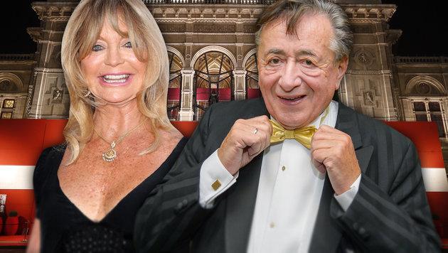 Goldie Hawn will schnell wieder weg von Lugner (Bild: Viennareport, face to face, APA/GEORG HOCHMUTH)