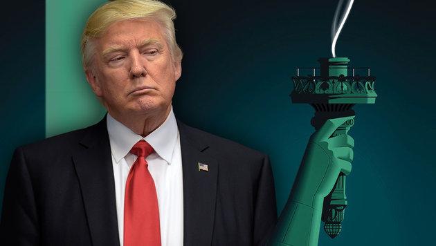 USA unter Trump: Die veruntreute Demokratie (Bild: AP, NewYorker)