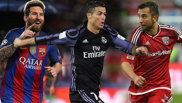 Das kann Markus Suttner besser als Messi & Ronaldo (Bild: GEPA)