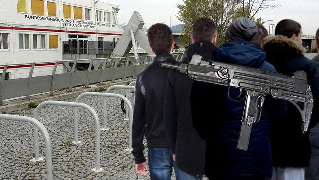 Massenfestnahme von Flüchtlingen in Wien (Bild: APA/dpa/Skolimowska, thinkstockphotos.de, Andi Schiel)