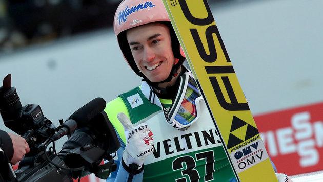Stefan Kraft gewinnt 1. Oberstdorf-Skifliegen (Bild: APA/dpa/Daniel Karmann)
