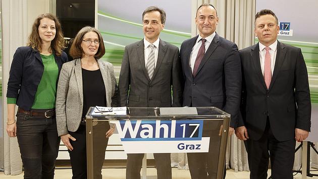 Graz-Wahl:  ÖVP triumphiert vor KPÖ und FPÖ (Bild: APA/Erwin Scheriau)