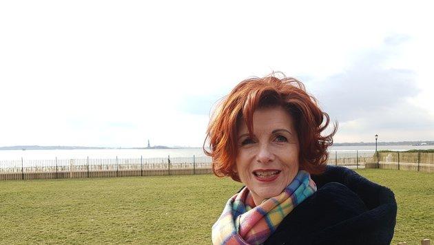 FPÖ-Gesundheitssprecherin Brigitte Povysil in New York City (Bild: Kronen Zeitung)