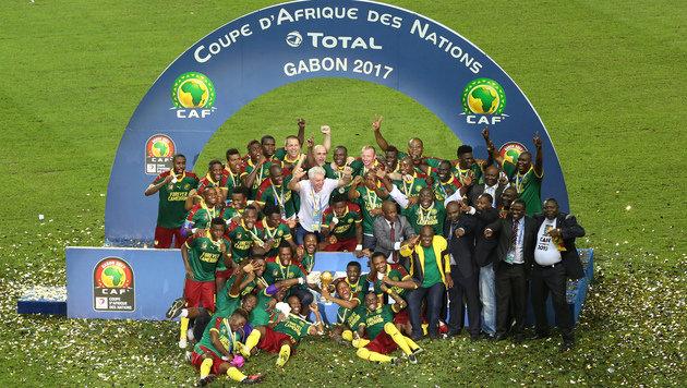 Kamerun gewinnt zum 5. Mal den Afrika Cup! (Bild: AFP)