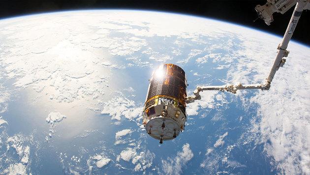 HTV-6 beim Abdocken von der Raumstation ISS (Bild: NASA)