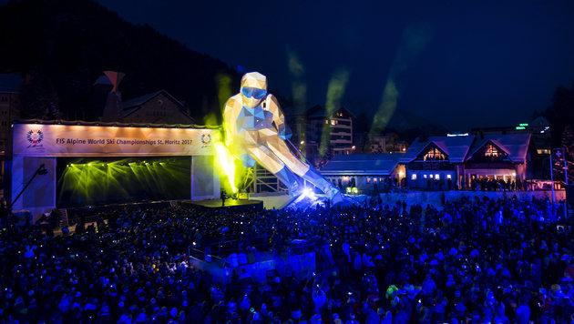 44. Alpinski-WM in St. Moritz feierlich eröffnet! (Bild: KEYSTONE / JEAN-CHRISTOPHE BOTT)