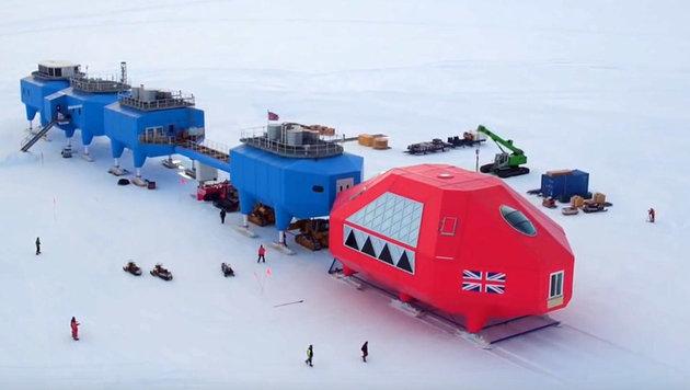 Forschungsstation in der Antarktis umgezogen (Bild: YouTube.com/BAS)