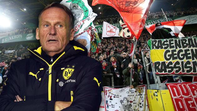 RB-Fanklub stellt BVB-Boss Watzke an den Pranger (Bild: GEPA, AFP)