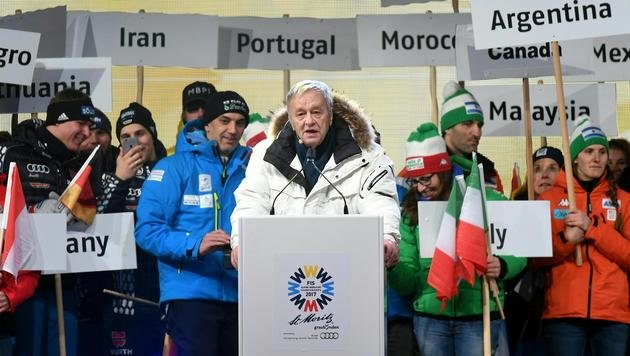 44. Alpinski-WM in St. Moritz feierlich eröffnet! (Bild: APA/HELMUT FOHRINGER)