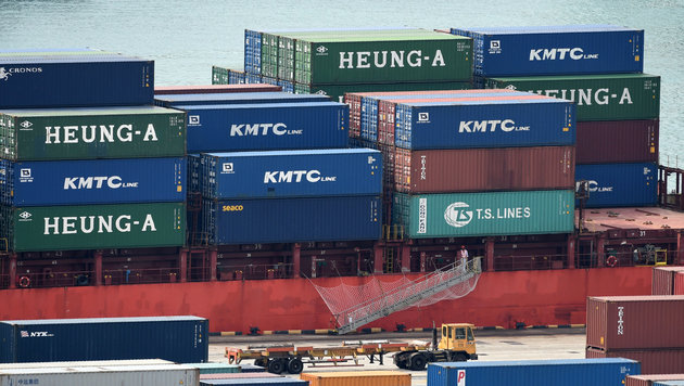 Container in einem Frachthafen in Singapur (Bild: AFP)